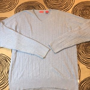 Izod cable knit blue sweater xl long sleeve